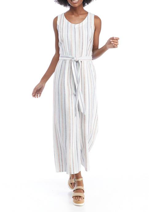 Cupio Womens Multi Stripe Jumpsuit