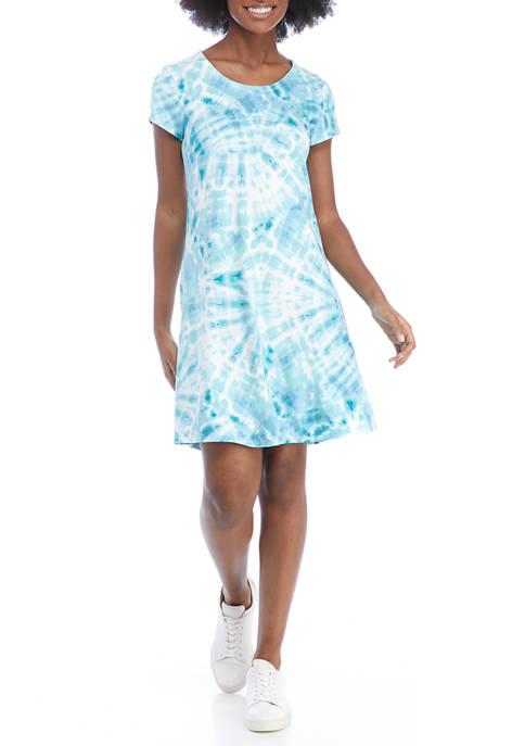 Cupio Womens Cap Sleeve Tie Dye Dress
