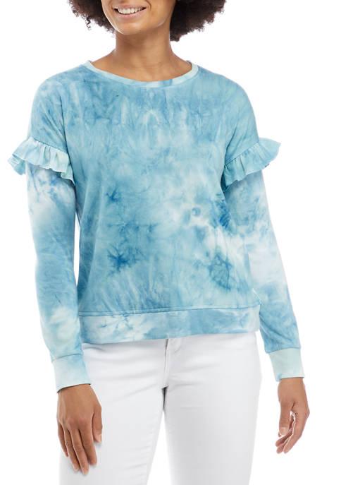 Cupio Ruffle Trim Sweatshirt