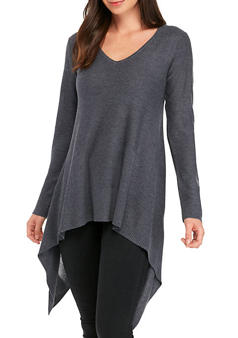 Long Sleeve Exaggerated High Low Sweater
