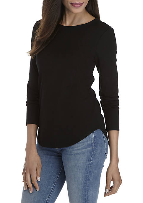 Cupio Julianna Long Sleeve Core Knit T-Shirt