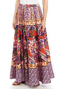 Cupio Printed Maxi Skirt