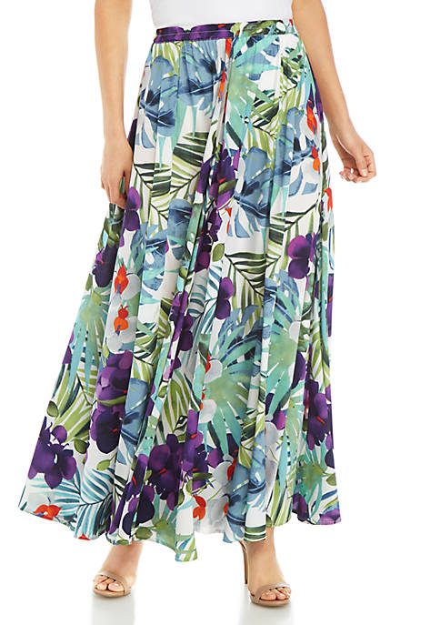 Cupio Long Full Printed Skirt