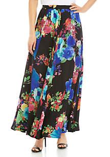 Cupio Long Full Printed Skirt