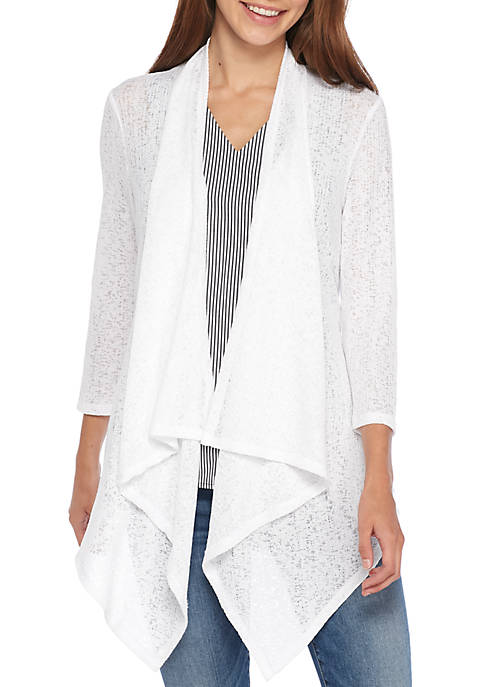 Cupio Three-Quarter Sleeve Knit Cardigan