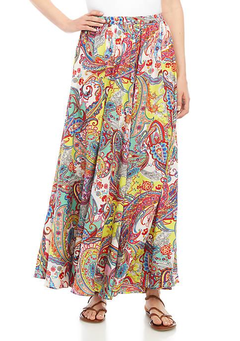 Cupio Yellow Flower Print Skirt