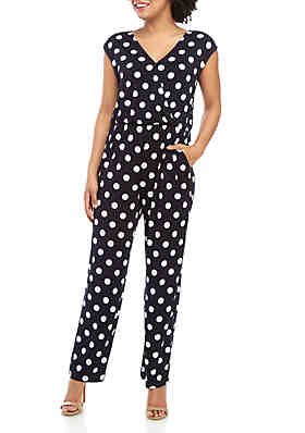 0f06cb0f599 Cupio Polka Dot Wrap Front Jumpsuit ...