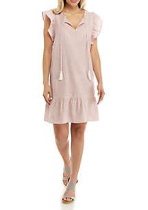 cupio blush Stripe Linen Dress