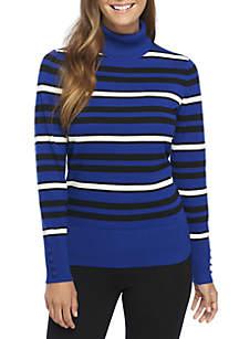 Long Sleeve Stripe Turtleneck