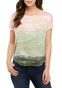 Cupio Drop Shoulder Scoop Neck Tee