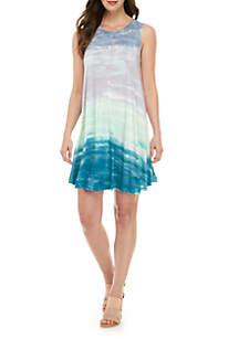 cupio blush Sleeveless Tie Dye Dress