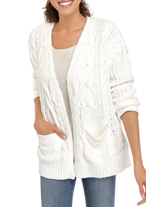cupio blush Womens Drop Shoulder Cardigan