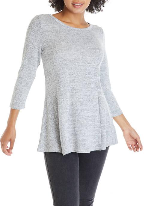 cupio blush Womens 3/4 Sleeve Scoop Neck Top