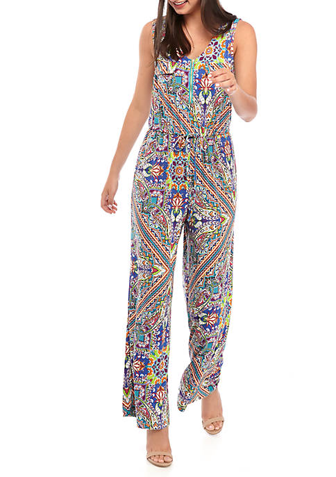 Cupio Sleeveless Zip Front Jumpsuit