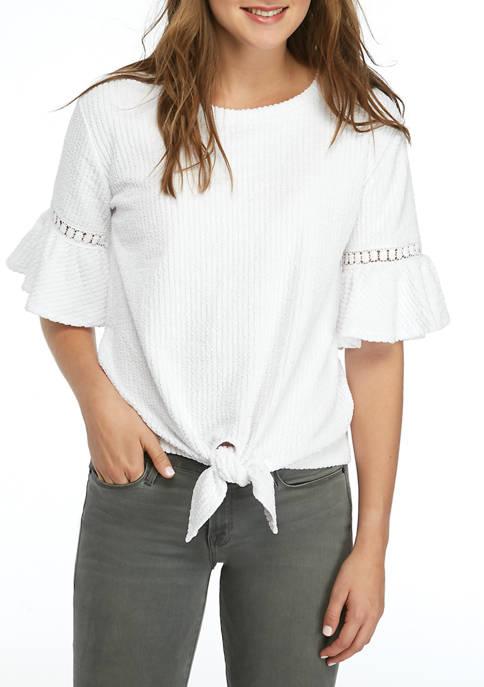 Cupio Womens Tie Front T-Shirt