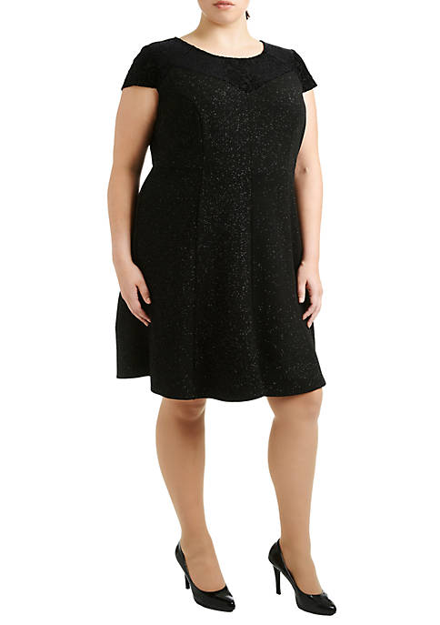 NY Collections Plus Size Cap Sleeve Fit and