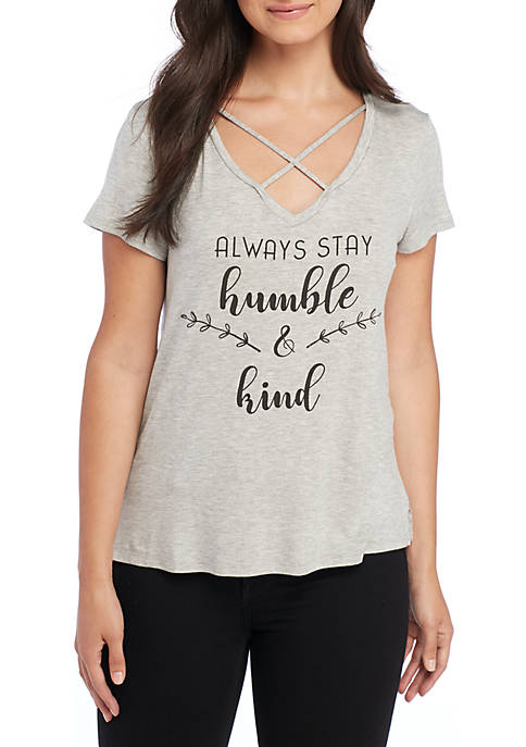 Studio9D8 Humble and Kind Cross Front Tee