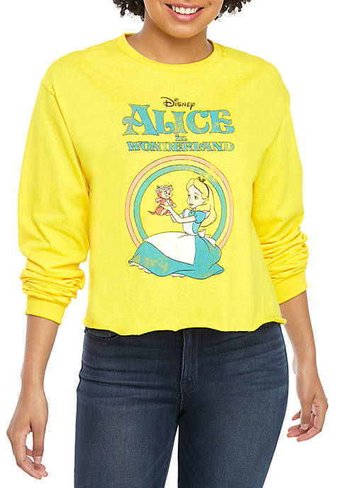 Long Sleeve Skimmer Alice and Wonderland Top