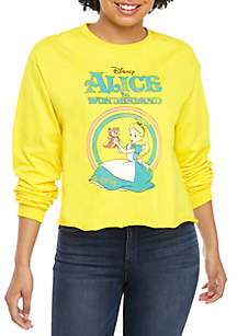 7b9b4ab083b8e4 TRUE CRAFT Tunic Sweatshirt · Long Sleeve Skimmer Alice and Wonderland  Graphic Top