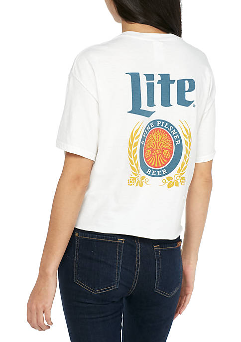 Mighty Fine Short Sleeve Miller Lite Front Back