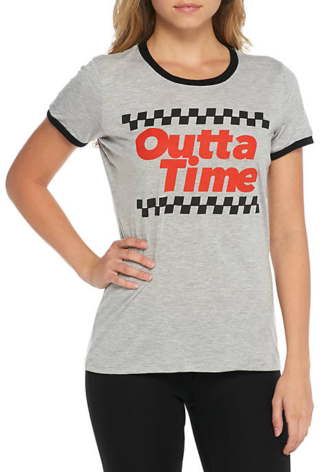 Mighty Fine Short Sleeve Ringer Outta Time Racing