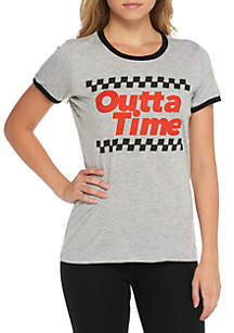 Short Sleeve Ringer Outta Time Racing Tee