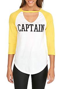 Gigi Neck Captian Raglan T-Shirt