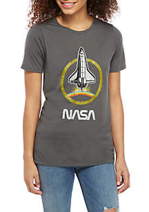 Mad Engine Short Sleeve Washed NASA Graphic Top