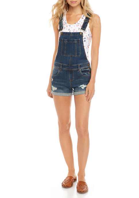 Dollhouse Juniors Roll Cuff Shortalls