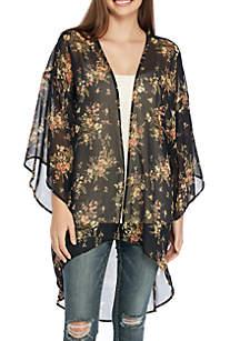 Chiffon Floral Kimono