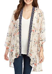 Chance & Destiny Twin Print Kimono Top