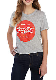 Short Sleeve Delicious Refreshing Coca Cola Graphic Tee