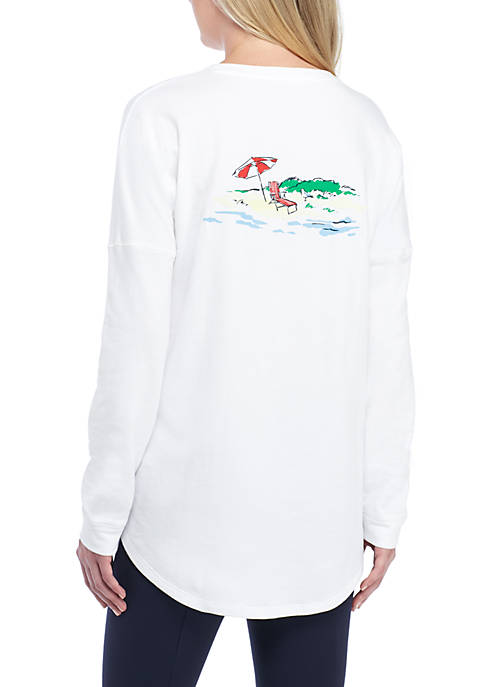 Crown & Ivy™ Long Sleeve White Beach Chair