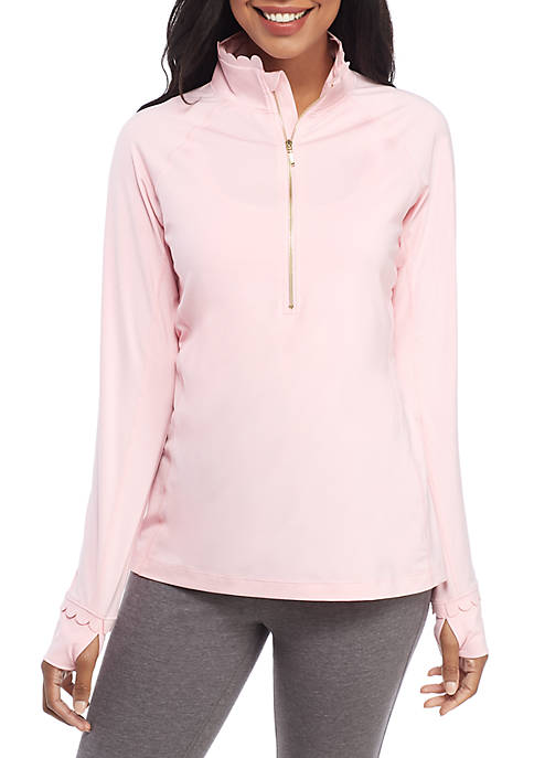 Crown & Ivy™ Solid Half Zip Pullover