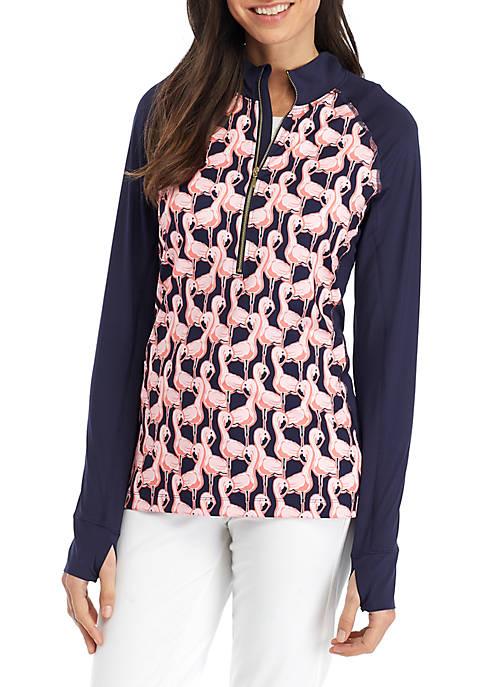 Crown & Ivy™ Printed Half Zip Jacket