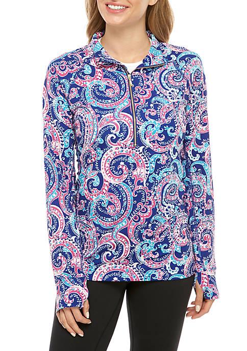 Crown & Ivy™ Mock Neck Printed Pullover