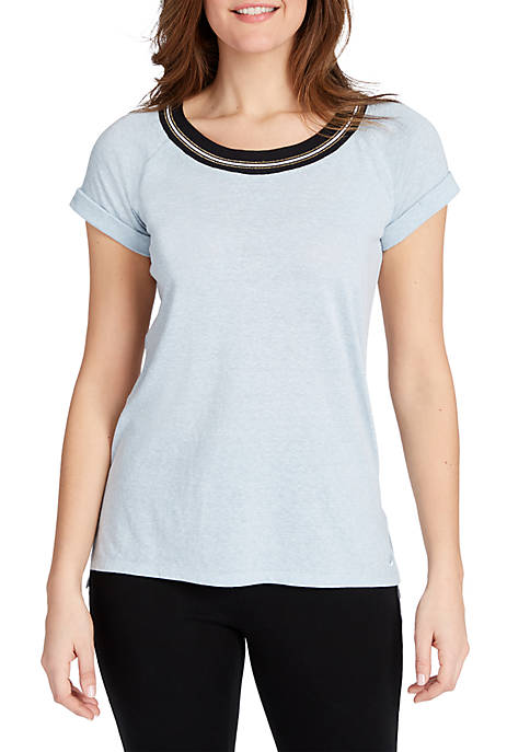 LIFE WORX BY GLORIA VANDERBILT Sophia Short Sleeve
