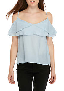 Gemma Off-The-Shoulder Ruffle Top