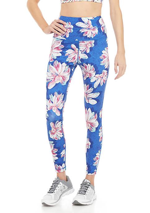 ZELOS Allover Floral Print Leggings