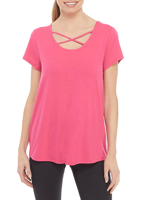 Strappy Short Sleeve T-Shirt