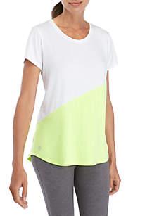 ZELOS Short Sleeve Color Black T Shirt