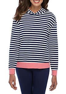 Stripe Fleece Hoodie
