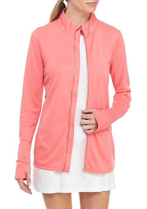 Crown & Ivy™ Golf Solid Full Zip Jacket