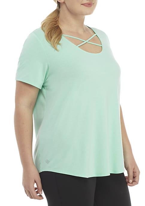 Plus Size Cross Fit Short Sleeve T-Shirt