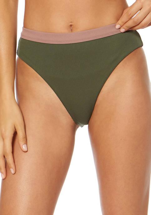 Dolce Vita Banded High Leg Swim Bottoms