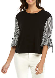 Poplin Sleeved Sweatshirt