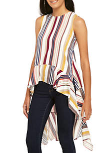 Stripe High Low Top