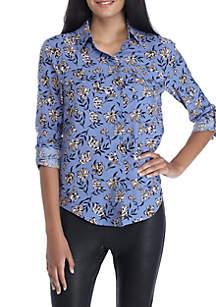 Long Sleeve 2-Pocket Woven Shirt
