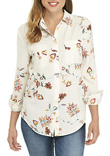 2 Pocket Print Button Shirt
