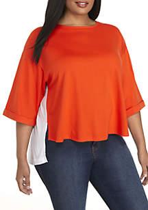 Plus Size 2Fer Sweatshirt